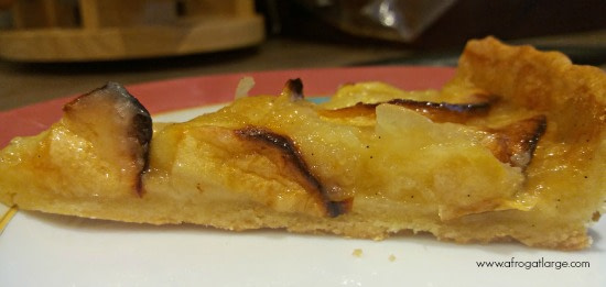 slice of French apple tart