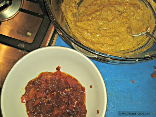 the tomato chutney and chicken marinade