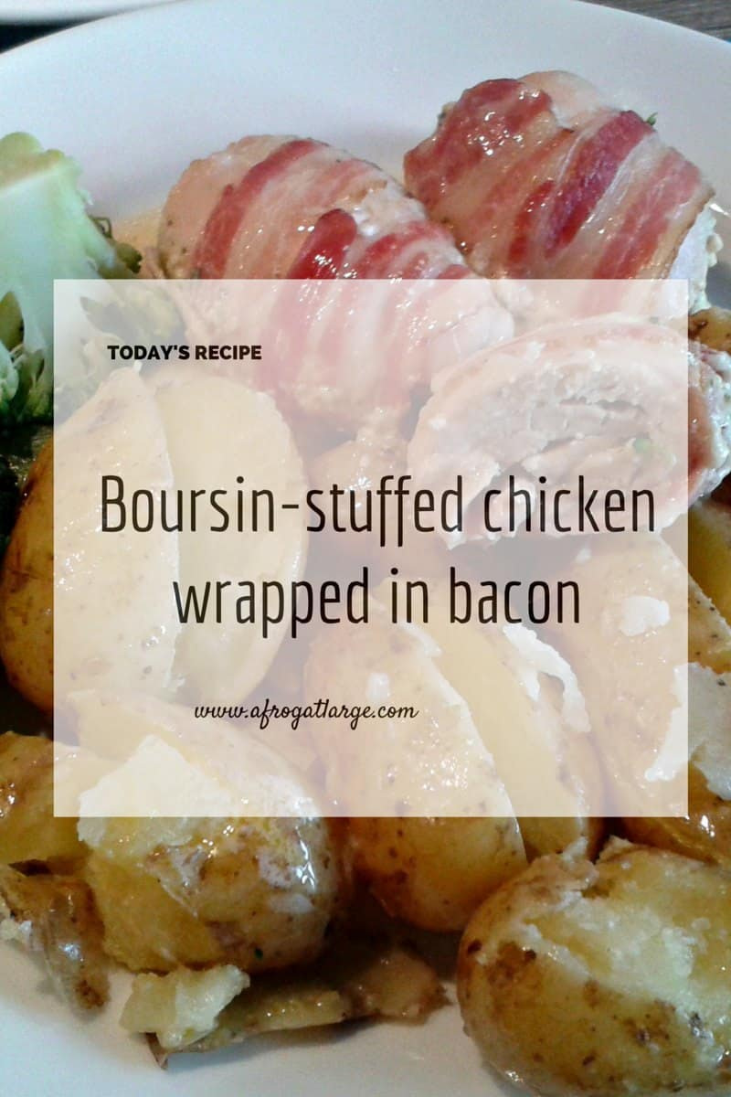 Boursin-stuffed chicken wrapped in bacon - blog header 150915