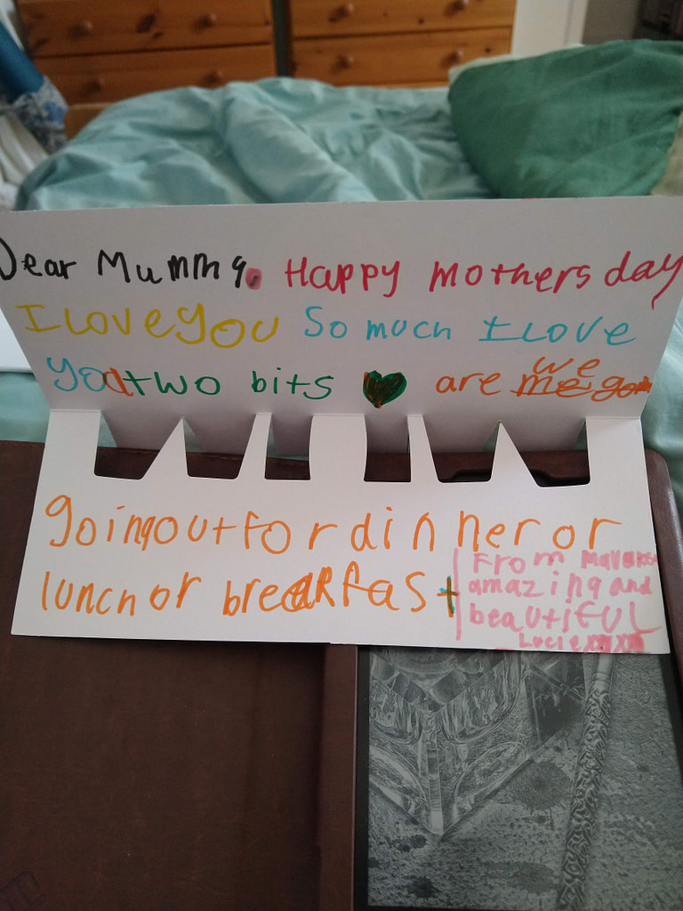 mother's day card from 6 year old