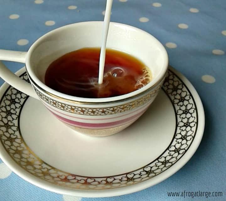 tea and milk teacup