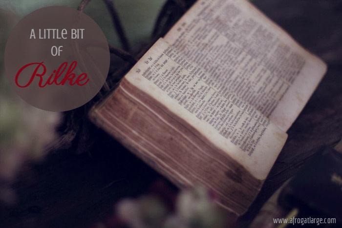 Rilke poem book header