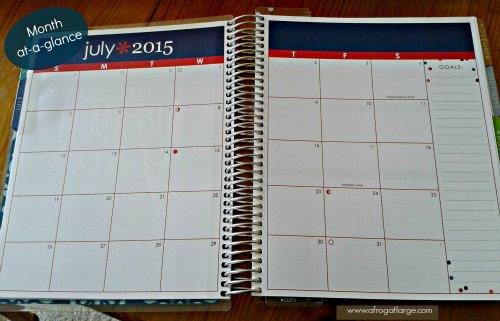 erin condren planner month at a glance