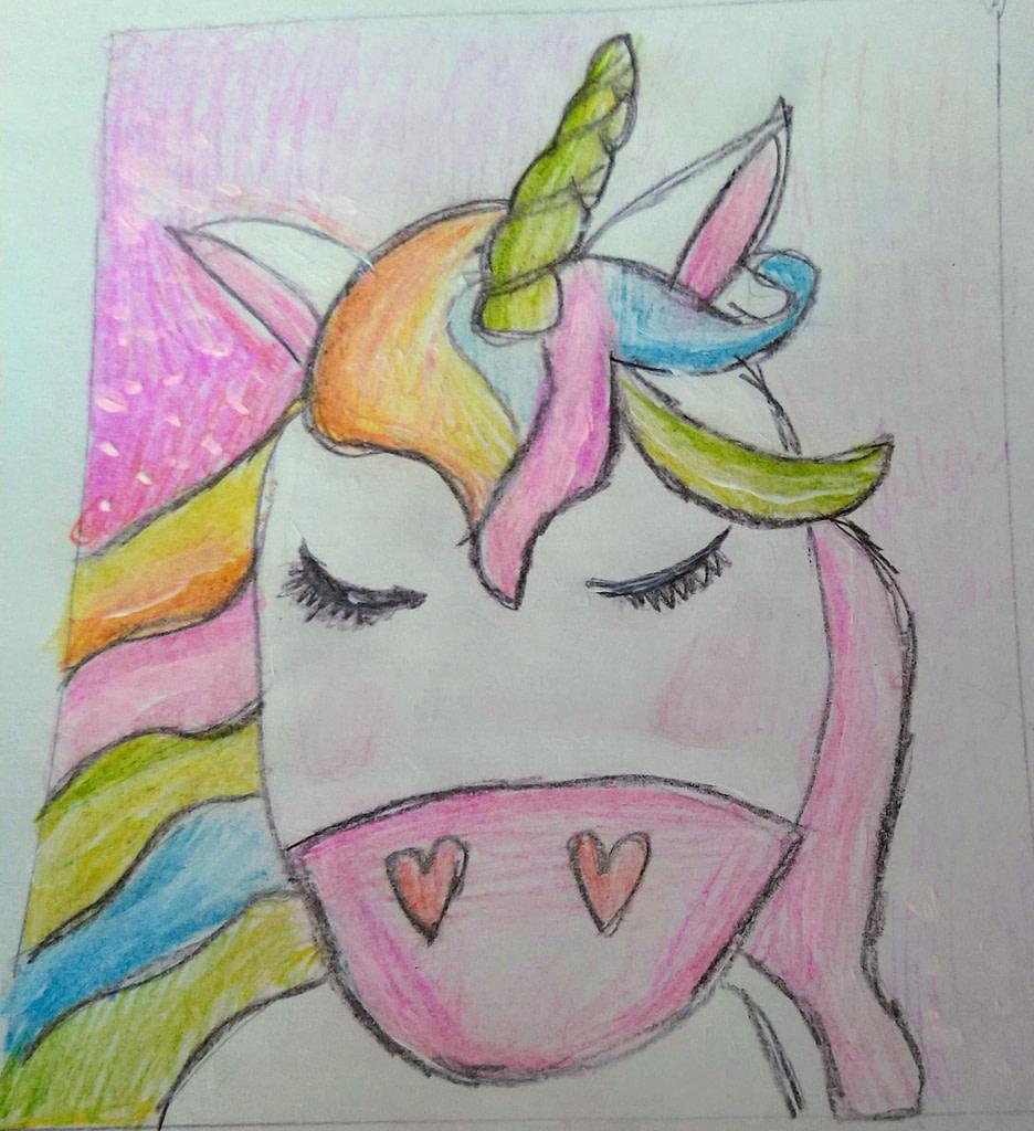 colourful hand-drawn unicorn