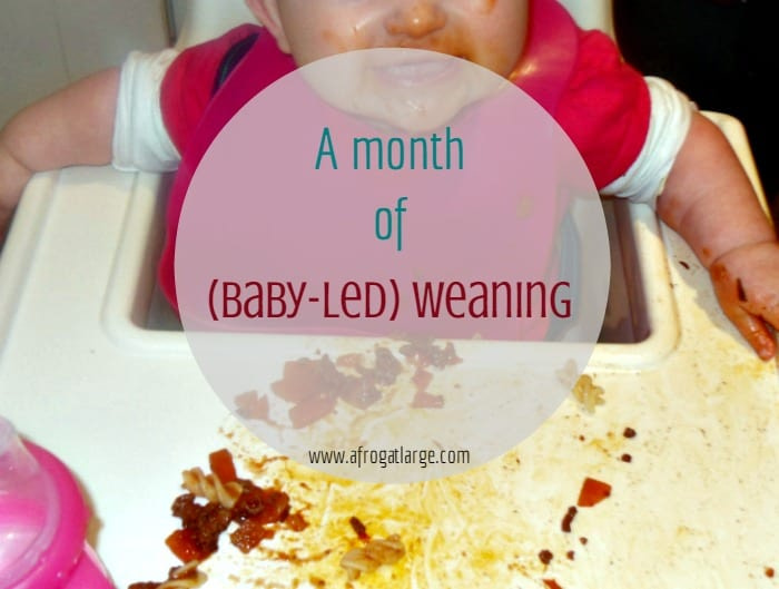 A month of weaning