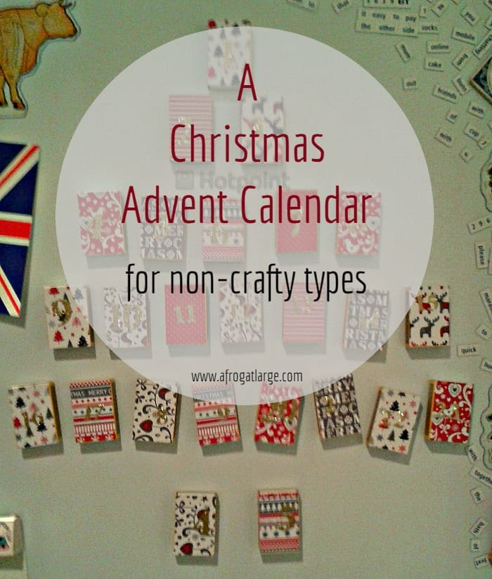 A Christmas Advent Calendar for non-crafty types
